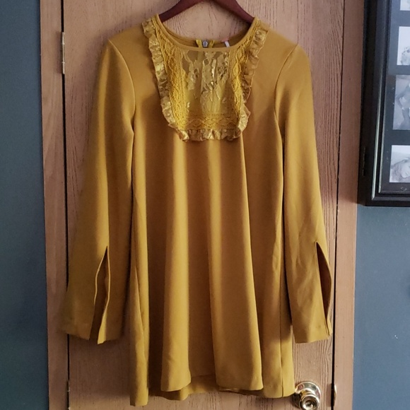 Free People Dresses & Skirts - Free People Mustard Dress